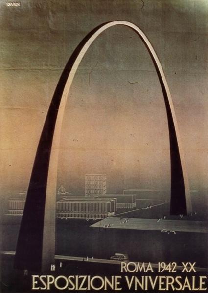 Arco fascista. progetto Adalberto Libera, 1942.